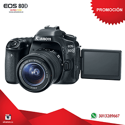 Canon 80D 18-55mm Is Stm con Memoria 32gb y Estuche