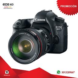 Canon 6D Mark II 24-105mm L G2 26.2 mpx con Memoria 32gb y Estuche