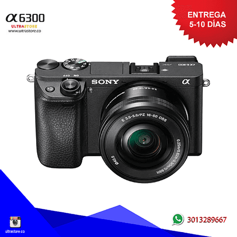 Sony Alpha A6300 16-50mm OSS Mirrorless 24.2mpx Video 4K con Memoria 32gb y Estuche
