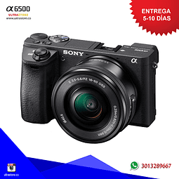 Sony Alpha A6500 16-50mm OSS Mirrorless 24.2mpx Video 4K con Memoria 32gb y Estuche