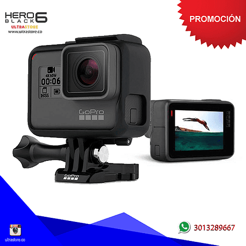 Cámara Gopro Hero 6 Black 12mpx Video 4K Ultra HD Wifi Gps Táctil