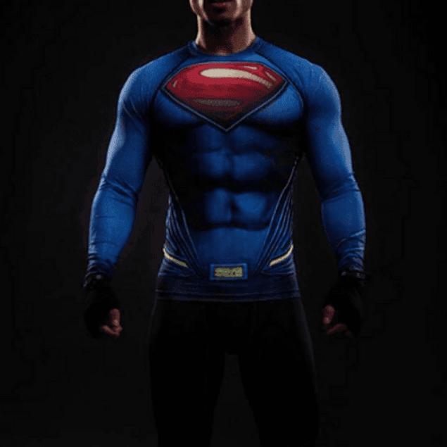 Polera Compresión Superman Manga Larga