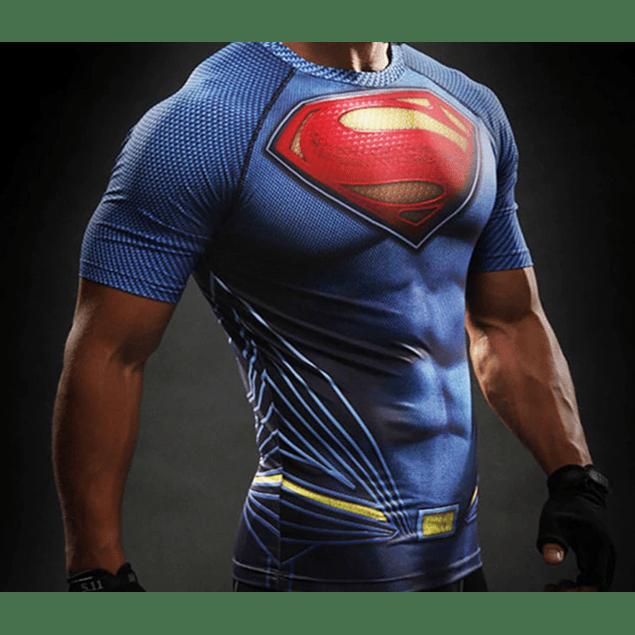 Polera Compresión Superman Manga Corta