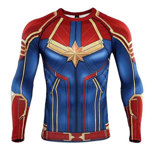 Polera Compresión Capitana Marvel
