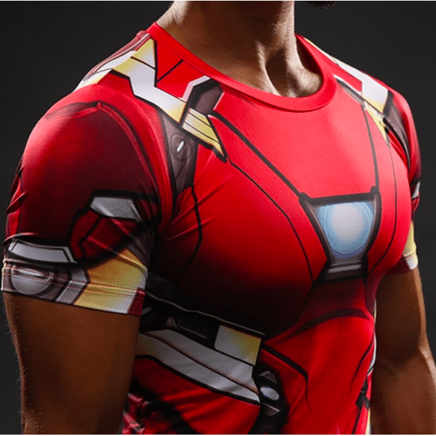 Polera Compresión Iron Man Manga Corta