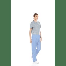 Calça Unissexo Azul para Vestuário Hospitalar