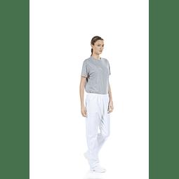 Calça Unissexo Branca para Vestuário Hospitalar