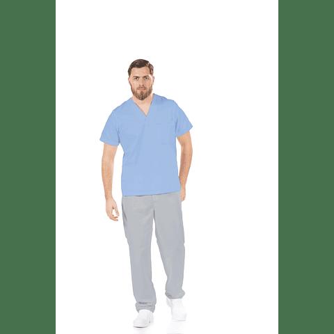 Túnica Unissexo Azul para a Área Hospitalar