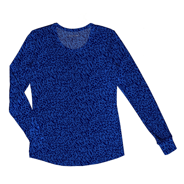 Polera Manga Larga  Hot Purr-Suit Royal Blue (Azul Real) 20801-HORL