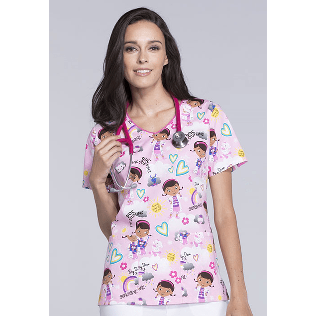 Top Estampado Tooniforms Dose of Sunshine TF635-DCOF​