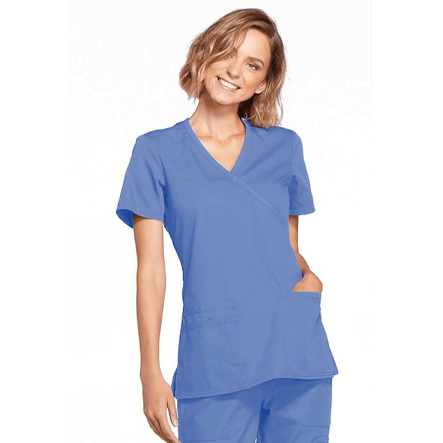 Top Cherokee Workwear Azul Cielo (Ciel Blue) Ww650 Ciew