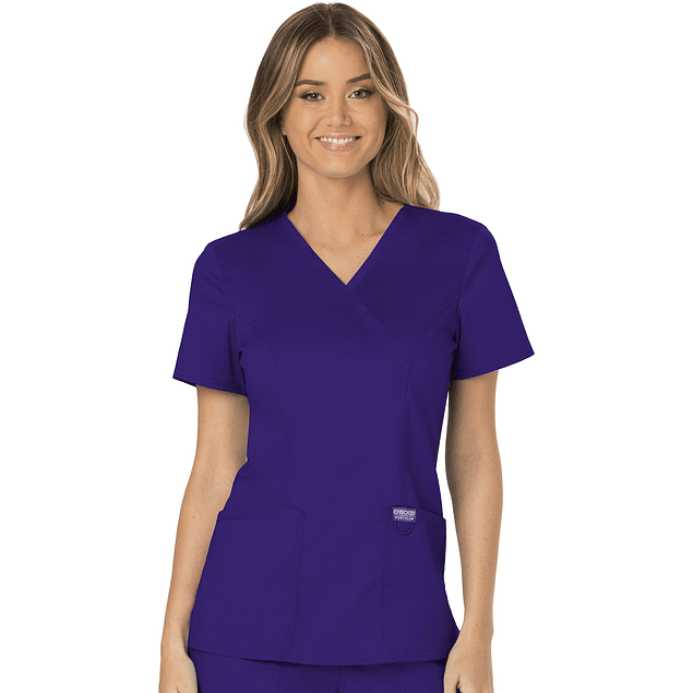 Top Mujer Cherokee Morado  Ww610 Grp Workwear Grape