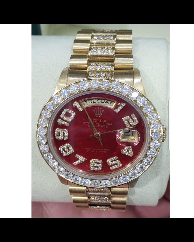Rolex Presidente DAY DATE 2020 18K Full Diamantes