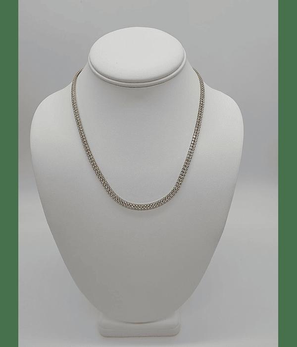 Cadenas de perla [ sirconia] 10k 18 pulgadas