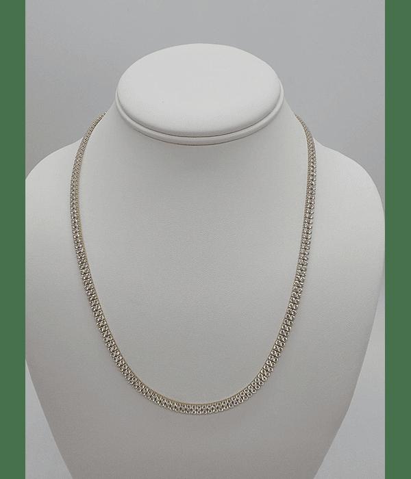 Cadenas de perla [ sirconia] 10k 20 pulgadas
