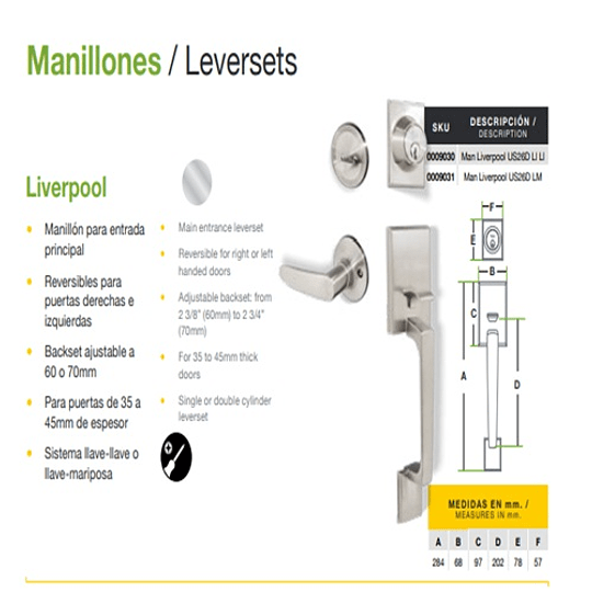Manillon Liverpool Us26d Lm Yale 0009031