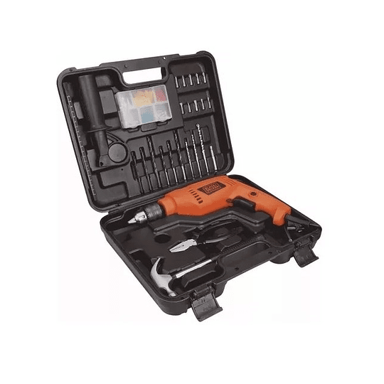 Kit Taladro Percutor 1/2 + 88 Acc Black + Decker Hd555k88-b3