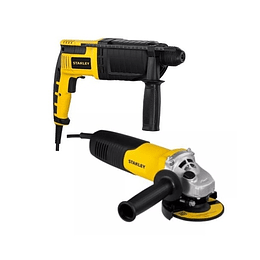 Taladro Stanley Rotomartillo Sds 800w +pulidora Stanley 41/2