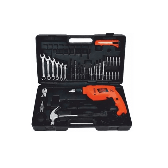 Taladro Black And Decker 1/2 Hd565k-b3 550w + 38 Accesorios