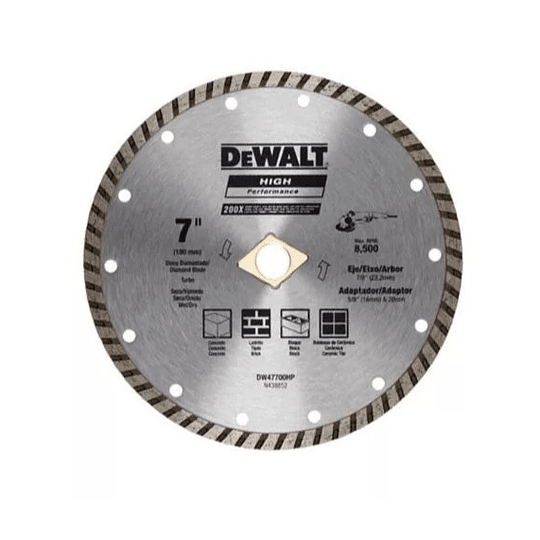 Disco Diamantado Turbo Dewalt 7pul Dw47700hp