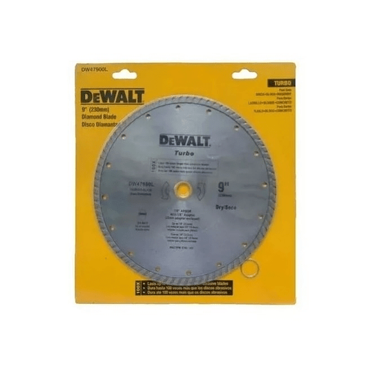 Disco Diamantado Turbo Dewalt 9pul Dw47900hp