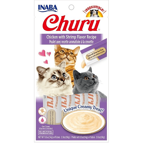 Inaba Churu Sabor Pollo Con Camarón 56 Gr