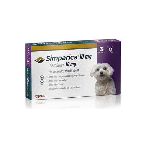 Simparica 10 mg - 2,5 a 5 Kg (1 Comprimidos)