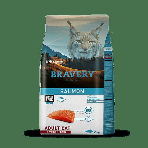 Bravery Salmon Adulto Esterilizado 7 Kg