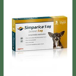Simparica 5 mg - 1,3 a 2,5 Kg (3 Comprimidos)