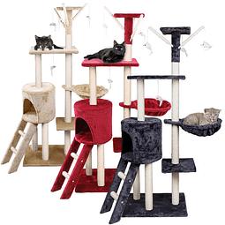 Rascador Torre para Gatos Color Rojo