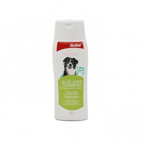 Bioline Shampoo Aloe vera para perros 250 ml.