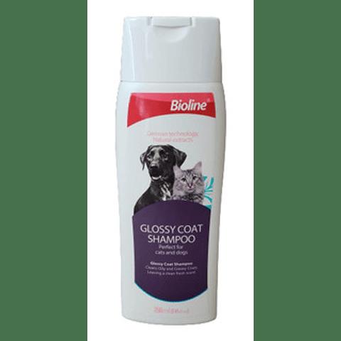Bioline Shampoo Pelaje Brillante perros y gatos 250 ml.
