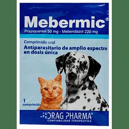Mebermic Antiparasitario interno perros y gatos 1 comprimido