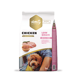 Amity Pollo Adulto Low Grain 14 kg