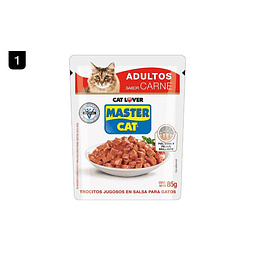 Pouch Master Cat Adulto Carne 85 Gr
