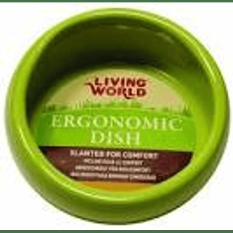 Living World Plato Ergonómico Grande Verde