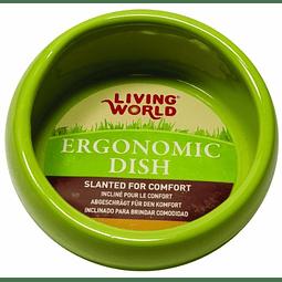 Living World Plato Ergonómico Pequeño Verde