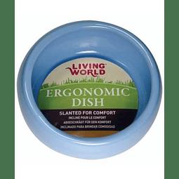 Living World Plato Ergonómico Grande Celeste
