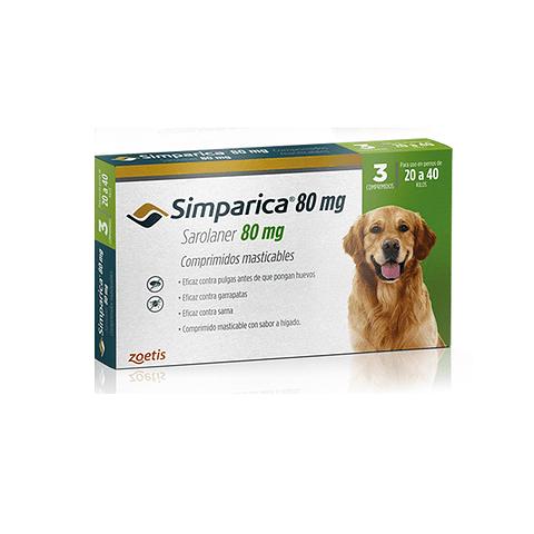 Simparica 80 mg - 20 a 40 Kg (3 Comprimidos)