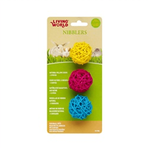 Living World Nibblers Esferas de Madera
