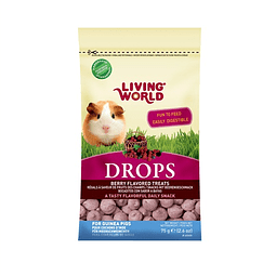 Living World Drops Cobayo Sabor Moras 75 gr.