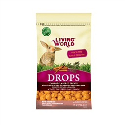 Living World Drops Conejo Sabor Zanahoria 75 gr.