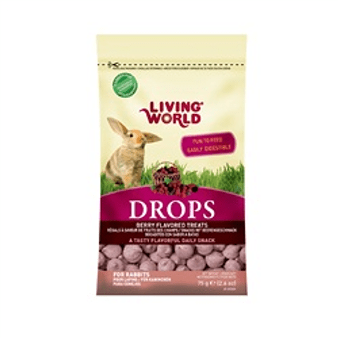 Living World Drops Conejo Sabor Moras 75 gr.