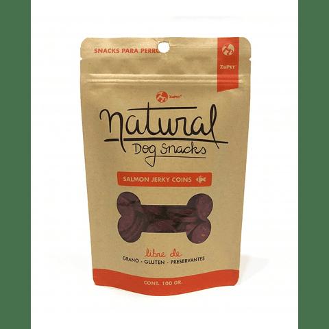 Natural Dog Snacks Salmón Jerky Coins