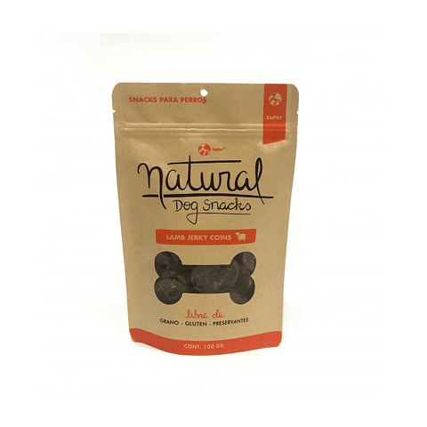 Natural Dog Snacks Lamb Jerky Coins