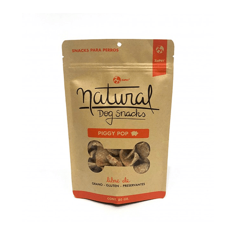 Natural Dog Snacks Piggy Pop