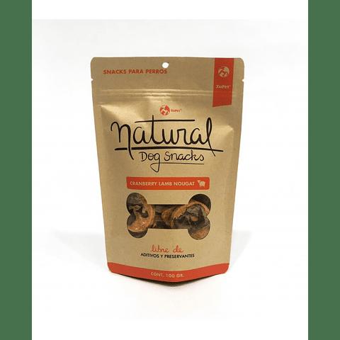 Natural Dog Snacks Cranberry Lamb Nougat