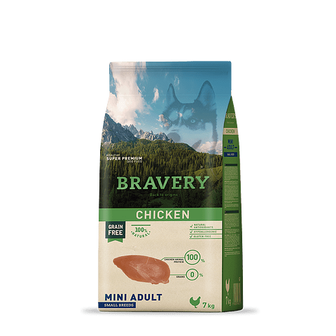 Bravery Pollo Adulto Raza Pequeña 2 Kg
