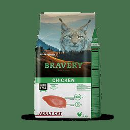 Bravery Pollo Gato Adulto 2 Kg