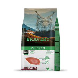 Bravery Pollo Gato Adulto 7 Kg